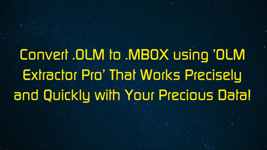 Convert OLM to MBOX Using a Trial Free Mac Utility with an Intuitive UI!