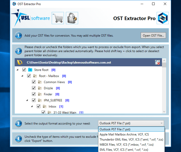 Convert OST to PST Software free